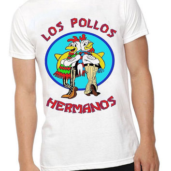 Breaking Bad Los Pollos Hermanos T-shirt, Mens/Unisex T-shirt, Alternative Tee, Chicken T-shirt, 100% Cotton, Normal Fit Tee, Mens Casual