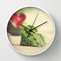 Eat Your Heart Out Wall Clock by Beth - Paper Angels Photography