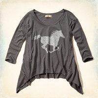 Horse Graphic Easy Tee
