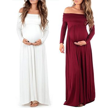 Maternity dress Women Cowl Neck