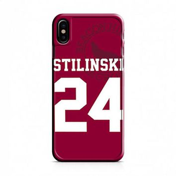 Stiles Stilinski 24 Jersey Teen Wolf iPhone X Case