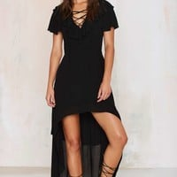 Nasty Gal Spanish Bombs High/Low Dress - Black