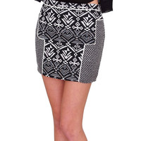 Mix And Match Mini Skirt - Black/White