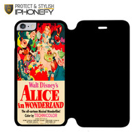 Old Disney Posters Alice In Wonderland iPhone 6 Plus Flip Case|iPhonefy