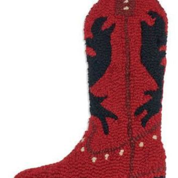"17"" Christmas Stocking Red Cowboy Boot"