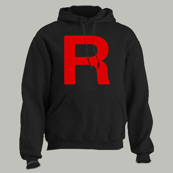 TEAM ROCKET - Hoodie pokemon symbol funny unisex mens S-3XL