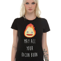 Her Universe Studio Ghibli Howl's Moving Castle Calcifer Bacon Girls T-Shirt