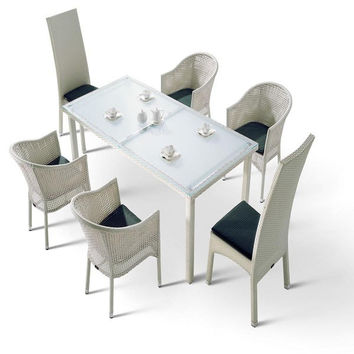 H10 White Patio Dining Set