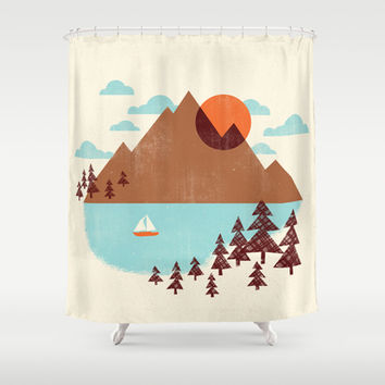 Indian Summer Shower Curtain by Jenny Tiffany