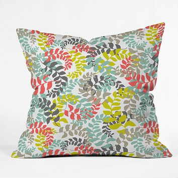 Heather Dutton Undertow Coral Throw Pillow