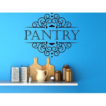 Pantry Vinyl Wall Decal, Pantry Signs, Pantry Wall Art, Vinyl Wall Decals, Custom Signs Kitchen Sign