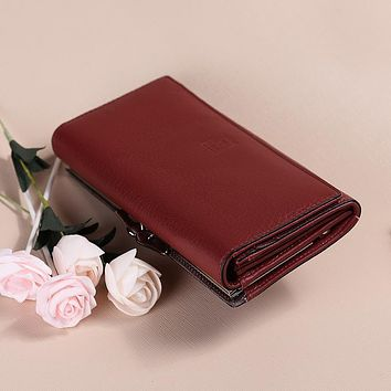 New Arrival women wallet rear genuine leather wallet cow leather purse female brand cluth lady coin money clips