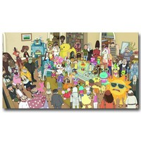 Rick and Morty Art Silk Fabric Poster Print 13x24 20x36 inch Cartoon Picture For Living Room Decor Back To The Future 024