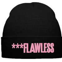 BEYONCE FLAWLESS THE BEAT BEANIE HAT