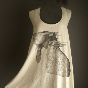 Retro Coldplay A Rush Of Blood To The Head Rock  White Organic Cotton T-Shirt Tee Tank Top Tunic Vest Size M/L