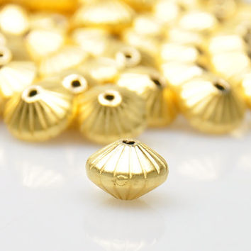 10 Pieces Matte Gold Ball Spacer Beads, Gold Plated Jewelry Spacers, Jewelry Findings, Jewelry Making Supply