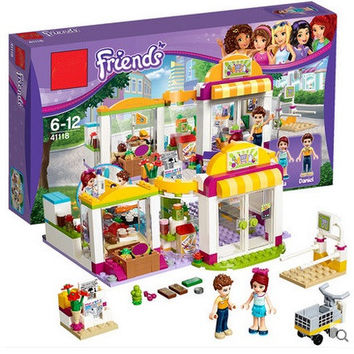 2016 Original BELA Friends City Supermarket Building Blocks Set Mia Daniel Minifigures Bricks Toys Compatible Legoelieds 41118