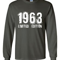 1963 Limited Edition Bday Long Sleeve Unisex T Shirt 50 TH LOOK Whose the BiG Five OH Bday Tee Great Birthday Gift Long Sleeve 50TH tee Shir