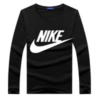 Cotton Long Sleeve T-shirts Winter Korean Plus Size Sports Bottoming Shirt [12225176147]