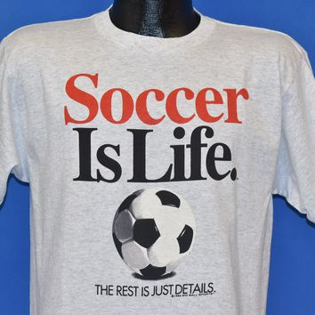 90s Soccer Is Life The Rest Is Just Details t-shirt Youth Extra Large