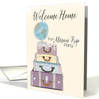Welcome Home from a Mission Trip Party Invitation card