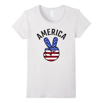 American Flag USA Patriotic 4th of July Party T-Shirt Retro