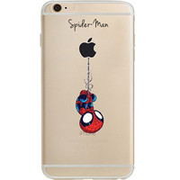 "Spider Man Jelly Clear Case for Apple iPhone 6/6s PLUS (5.5"")"