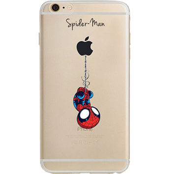 Spider Man Jelly Clear Case for Apple iPhone 7