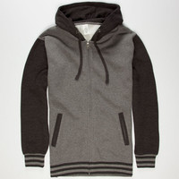 Standard Supply Mens Varsity Zip Hoodie Grey  In Sizes