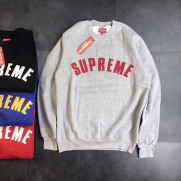 One-nice™ Supreme Fashion Embroidery Round Neck Top Sweater Pullover