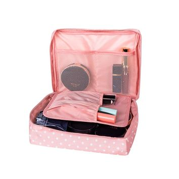 Women's Travel Cosmetic Bags Beautician Vanity Necessary Pouch Toiletry Wash Bra Underwear Makeup Case Organizer Accessories