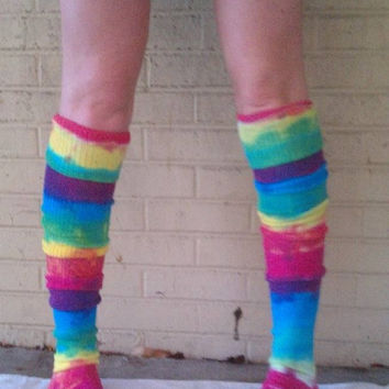Tie-dye Thigh High American Apparel Socks