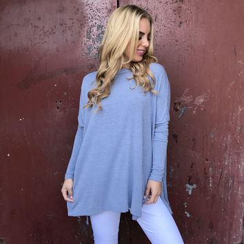 Snuggles Tunic Top In Blue
