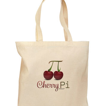 Cherry Pi Grocery Tote Bag