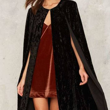 Don't Fear the Reaper Velvet Cape Blazer