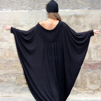 Black XXXL XXXXL Plus size oversized cotton caftan LONG dress/cover up dress / party dress / sundress/ everyday dress/evening dress