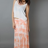 Etched Maxi Skirt