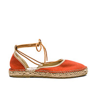 Marina Lace Up Espadrille in Coral
