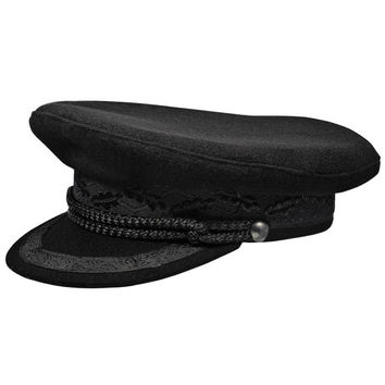 Kashubia type merchant fleet officer peaked cap. Sailor / Mariner hat.