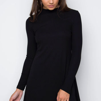 Kath Swing Dress - Black