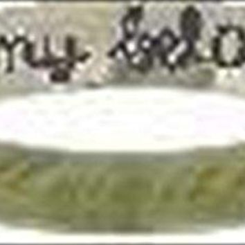 Solid Rock Jewelry STAINLESS STEEL CURSIVE quotI will wait for my belovedquot CHRISTIAN PURITY RING STYLE 368