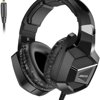 ONETOW Jeecoo J20 Gaming Headset for PS4 New Xbox One, Stereo Over-ear Headphones with Mic for PC Computer Mac Laptop Nintendo Switch Games