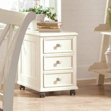 American Drew Camden-Light File/Drawer Cabinet in White Painted