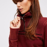 Free People Just a Half Zip Pullover