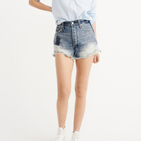 Womens High-Rise Patch Shorts   Womens Bottoms   Abercrombie.com