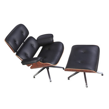 Replica Eames Leather Lounge Chair And Ottoman