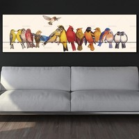 wall picture canvas painting art print lovely birds on canvas and poster no frame wall art Painting decoration for living room