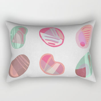 Vintage Pebbles Rectangular Pillow by vivigonzalezart