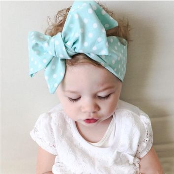 stylish Cute Boho Bow Knot Newborn Headbands cloth for kids girls hair Accessories Florals printing Hairbands Bandanas Headdress
