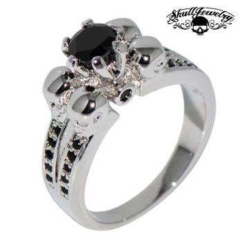 Quattro Teschi  Four Skulls Black Sapphire Wedding Engagement R d1ba8eadb